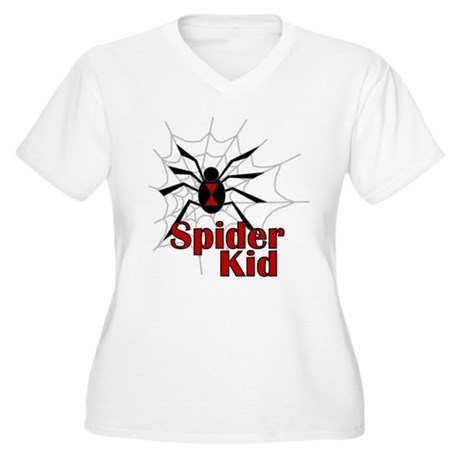 Spider Kid Women's Plus Size V-Neck T-Shirt