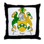 Inge Family Crest Throw Pillow