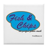 Fish & Chips: The Perfect Poker Snack Tile Coaster