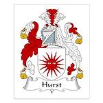 Hurst Family Crest Small Poster