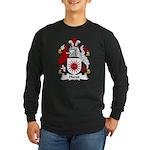 Hurst Family Crest Long Sleeve Dark T-Shirt