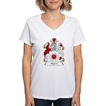 Hurst Family Crest Women's V-Neck T-Shirt
