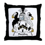 Huntley Family Crest Throw Pillow