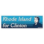 Rhode Island for Clinton bumper sticker