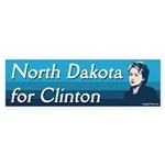 North Dakota for Clinton bumper sticker