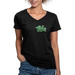 Independence Dove Women's V-Neck Dark T-Shirt