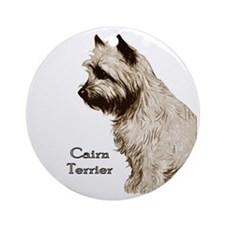Cairn Profile Breed Name Ornament (Round)