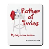 Father of Twins Boys Can Swim Mousepad