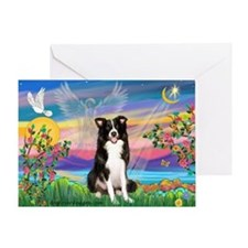 GUARDIAN ANGEL/BORDER COLLIE Greeting Card