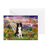 Border collie angel Greeting Cards