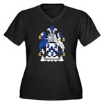Honeywill Family Crest Women's Plus Size V-Neck Da