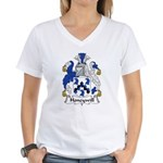 Honeywill Family Crest Women's V-Neck T-Shirt