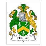 Holman Family Crest Small Poster