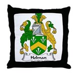 Holman Family Crest Throw Pillow