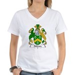 Holman Family Crest Women's V-Neck T-Shirt