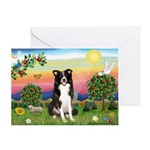 Bright Country/Border Collie Greeting Card