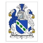 Hollingsworth Family Crest Small Poster