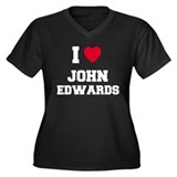 I love John Edwards Women's Plus Size V-Neck Dark