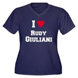 I love RUDY GIULIANI Women's Plus Size V-Neck Dark
