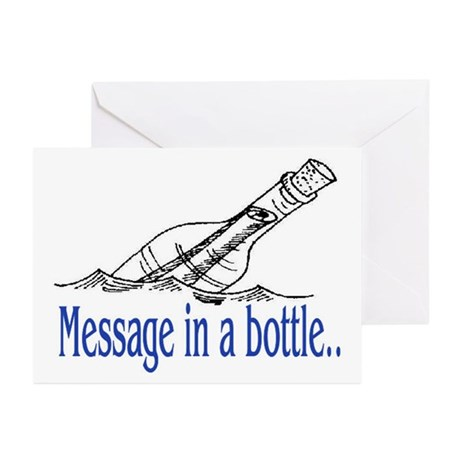 MESSAGE IN A BOTTLE Greeting Cards (Pk of 20)