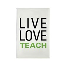 Live Love Teach Rectangle Magnet (10 pack)
