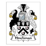 Hinchman Family Crest Small Poster