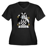 Hinchman Family Crest Women's Plus Size V-Neck Dar