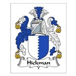 Hickman Family Crest Small Poster