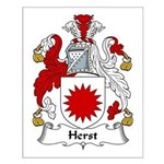 Herst Family Crest Small Poster