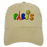 Colorful Paris / Eiffel Tower Cap