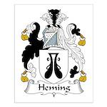 Heming Family Crest Small Poster