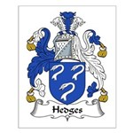 Hedges Family Crest Small Poster