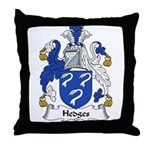 Hedges Family Crest Throw Pillow