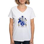 Hedges Family Crest Women's V-Neck T-Shirt