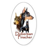 Doberman Pincher-1 Oval Decal