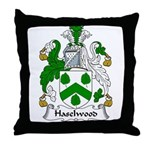 Haselwood Family Crest Throw Pillow