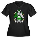 Haselwood Family Crest Women's Plus Size V-Neck D