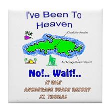 Funny Antiles beach Tile Coaster