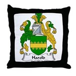 Harold Family Crest Throw Pillow
