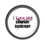 I Love My COMPANY SECRETARY Wall Clock