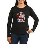 Hanby Family Crest Women's Long Sleeve Dark T-Shir