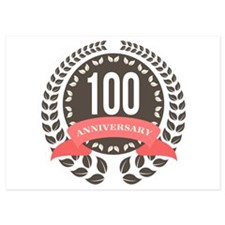 100 Years Anniversary Laurel Badge Invitations