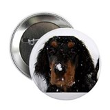 "Gordon Setter Pup: Fun in the Snow 2.25"" Button (1"