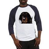 Gordon Setter Pup: Fun in the Snow Baseball Jersey