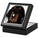 Gordon Setter Pup: Fun in the Snow Keepsake Box