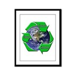 Reduce Reuse Recycle Earth Framed Panel Print