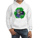 Reduce Reuse Recycle Earth Hooded Sweatshirt