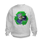 Reduce Reuse Recycle Earth Kids Sweatshirt