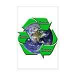 Reduce Reuse Recycle Earth Mini Poster Print