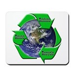 Reduce Reuse Recycle Earth Mousepad